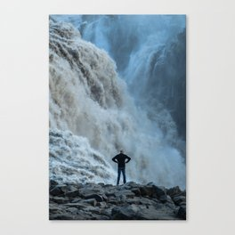 Staring into the power Canvas Print