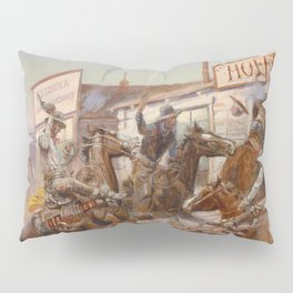 C.M. Russell Vintage Western In Without Knocking Pillow Sham