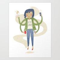 Highly Caffeinated Art Print