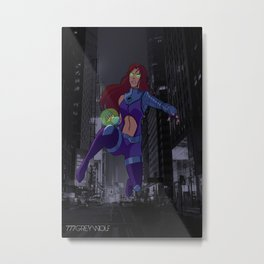 Young Justice Starfire Metal Print