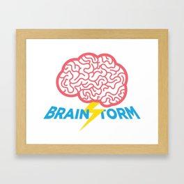 Brain Storm Framed Art Print
