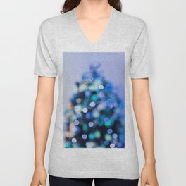 So this is Christmas in blue Unisex V-Neck