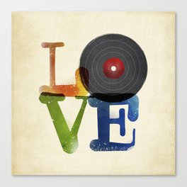 Love is Music Canvas Print