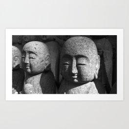 Japanese Temple Statues Art Print