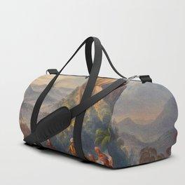 Ataraipu Or The Devil's Rock Illustrations Of Guyana South America Natural Scenes Hand Drawn Duffle Bag