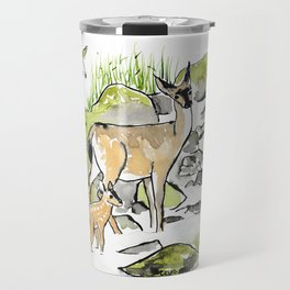 Deer in Creek Travel Mug