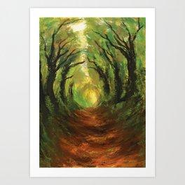 Hollow Way Art Print
