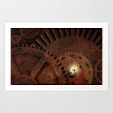 The Man in the Machine - A Steampunk Fantasy Art Print