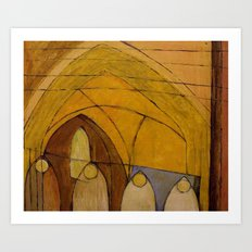 Worcester Cathedral. Art Print