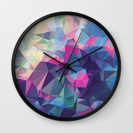 Polygonal Art with Triangles Vol 2 Wall Clock