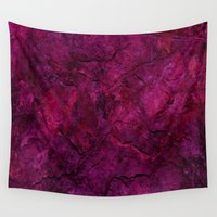 heavy metal Wall Tapestries featuring Purple Heavy Metal by Lord Egon Will