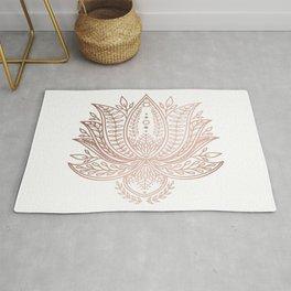 Botanical Lotus - Rose Gold Rug
