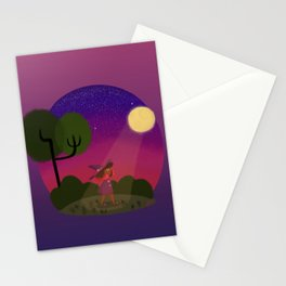 Little Witch Print Stationery Cards