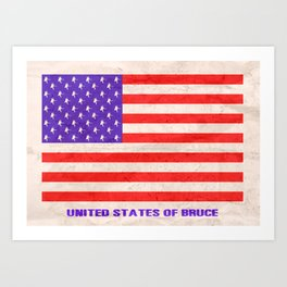 UNITED STATES OF BRUCE SPRINGSTEEN Art Print