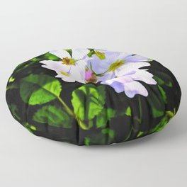 The Wild Rose In Living Color Floor Pillow
