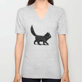Creeping Cat Unisex V-Neck