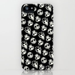 Pandemic Pattern - History Repeats (Black & White) iPhone Case