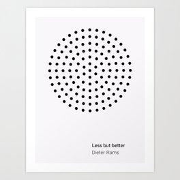 Dieter Rams Less But Better Art Print