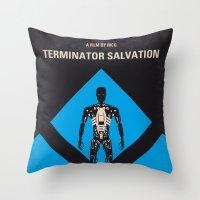 No802-4 My The Terminator 4 minimal movie poster Throw Pillow