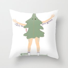 Xmas Tree Guy (Nils) Throw Pillow