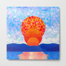 Sunset over the strait Metal Print