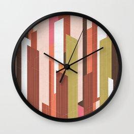 Red Firestorm Wall Clock