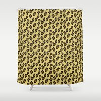 leopard Shower Curtains featuring Leopard by Lena Photo Art