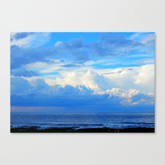 Clouds out at Sea Canvas Print