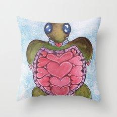 I Heart Sea Turtles Throw Pillow