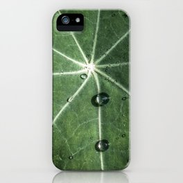Leaf with raindrops iPhone Case