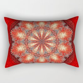 Red Vintage Flower Background Pattern Rectangular Pillow