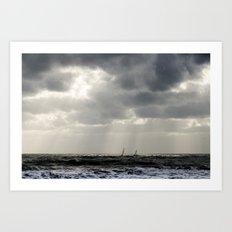 Dark Seaside Art Print