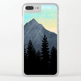 Mountain Range with crystallized sky Clear iPhone Case