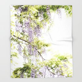 Wiisteria Throw Blanket