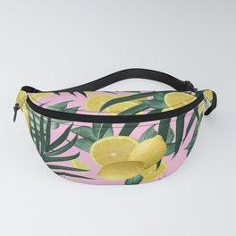 Summer Lemon Twist Jungle #6 #tropical #decor #art #society6 Fanny Pack