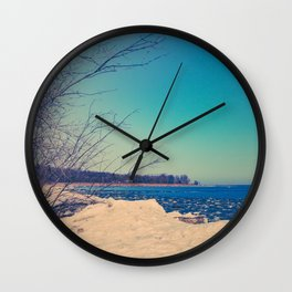 Winter Romance Wall Clock