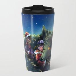 Snowy Wolf Travel Mug