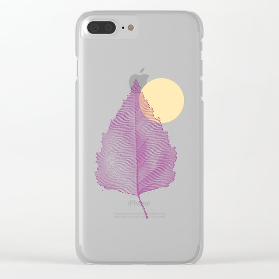 Delicate Leave Clear iPhone Case