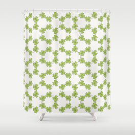 four-leaf clover leaves pattern Shower Curtain