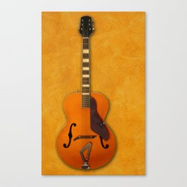 guitar with wall backgroud Canvas Print