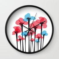 tulip Wall Clocks featuring Tulip by GabrieleCigna