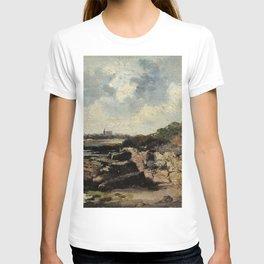 Eugne Boudin - Shore Landscape, Le Havre T-shirt