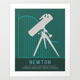Science Posters - Sir Isaac Newton - Physicist, Mathematician, Astronomer Art Print