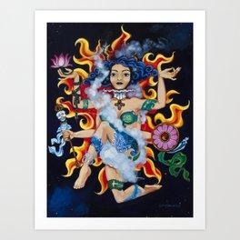 """Fire""  Earth Girl painting by Emma Gardner Art Print"