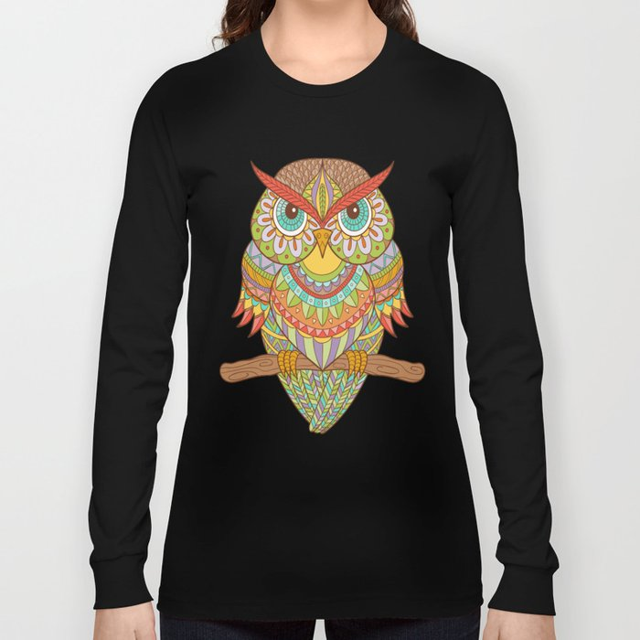 Hand drawn owl Long Sleeve T-shirt