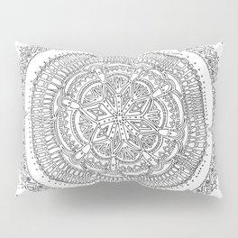 Realizing on White Background Pillow Sham