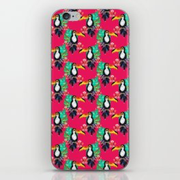 Tropical Pink Toucans iPhone Skin