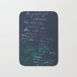 """""""Conquest of the Useless"""" by Werner Herzog Print (v. 10) Bath Mat"""