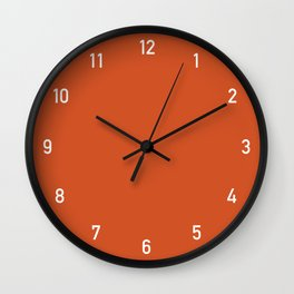 Numbers Clock - Orange Wall Clock