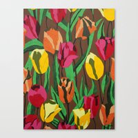 tulips Canvas Prints featuring Tulips  by Marjolein